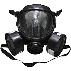 Black Double Filters Gas Mask