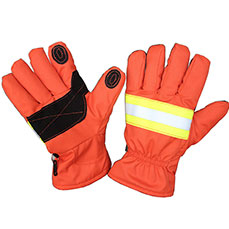Orange Firefighter Gloves