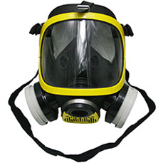 Double Filters Yellow Gas Mask