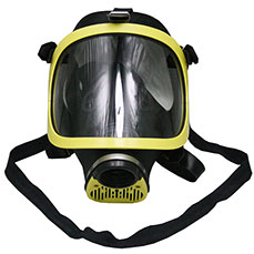 Yellow Single Filter Gas Mask