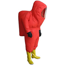Heavy-duty Red Chemical protective suit