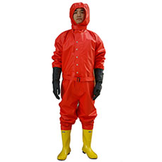 Light-duty Red Chemical protective suit
