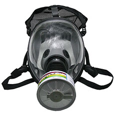 Black Single Filter Gas Mask