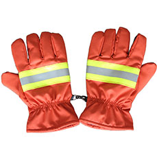 Orange Nomex firefighter Gloves