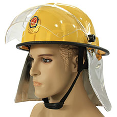 Yellow Firefighting Helmet