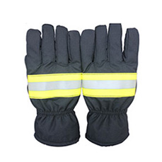 Navy Blue Firefighter Gloves
