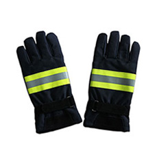 Navy Blue Nomex Firefighter Gloves