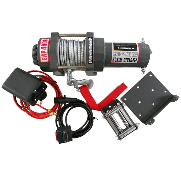 Portable mini 12v electric winch with motor
