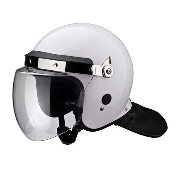 White Anti Riot Helmet